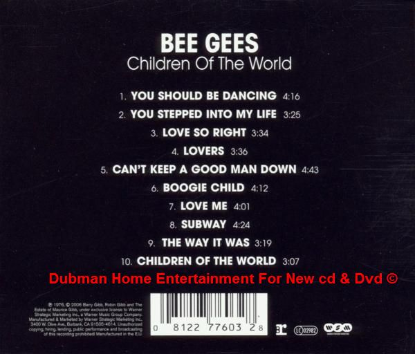 Bee Gees - Children Of The World - Dubman Home Entertainment