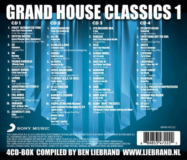 Ben liebrand grand house classics 1 4 cd dubman home for Classic house grooves dope jams nyc