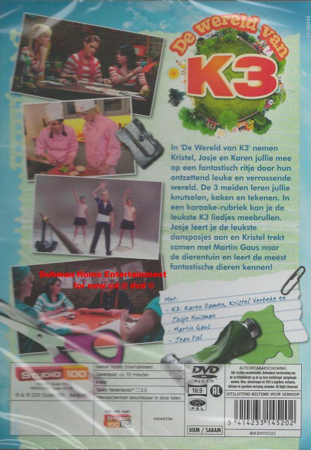 K3 de wereld van k3 dvd dubman home entertainment - Home key van de wereld ...