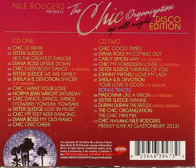 Nile Rodgers Presents The Chic Organisation - Up All Night ...