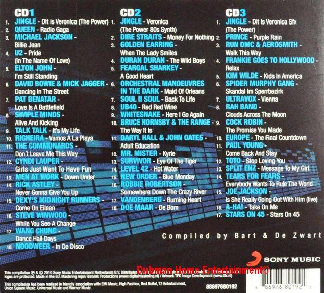 50 Jaar Radio Veronica The 80 S 3 Cd Dubman Home